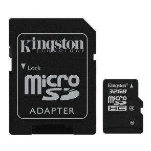 32GB microSDHC Kingston CL4 + adapter (SDC4/32GB)